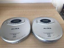 2 X Alba Portable Compact Disc CD Players