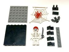 LEGO Skeleton Mini Figure Red Spider Web Pirates Sword Bat