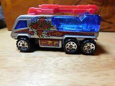Car~Matchbox 2000 Airport Fire Pumper #71 Silver Blue Loose Die-cast