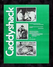 CADDYSHACK * CineMasterpieces ORIGINAL RARE COLLEGE MOVIE POSTER GOLF 1980