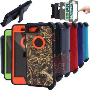 For iPhone 6/6S Plus Defender Case Rugged Shockproof (With Clip fits Otterbox)