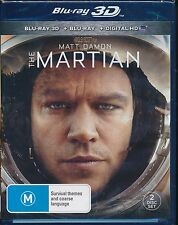 The Martian Blu-ray 3D NEW digital HD UV Matt Damon 2-disc