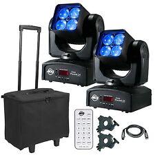 2 x ADJ Inno Pocket Z4 Zoom Wash 40 W illuminazione a LED Testa Mobile Discoteca DJ Package