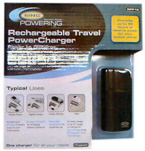Rechargeable Travel Power Charger - Ring Automotive - (96 Hours Power) - (RPP15)