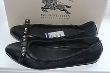 BURBERRY STAINFELD 3871792 BLACK LEATHER  #8.5us $395