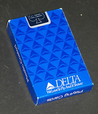 SEALED ~ Vintage DELTA AIRLINES Playing Cards ~ Widget Logo