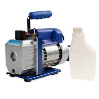 Single Stage 3CFM 1/4HP Rotary Vane Deep Vacuum Pump HVAC AC Air tool R134 R410a