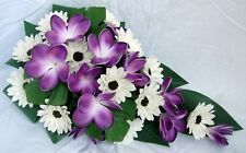 WEDDING BOUQUET,PURPLE FRANGIPANI, IVORY GERBERA