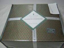NEW Waterford Linens Brogan 2 Pole Top Drapes Panels With Tiebacks Moss/Russet