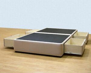 Platform Bed with storage drawers - Uphostered Storage Bed Frame Micr BF9