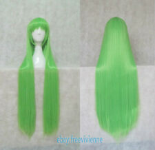 Code Geass C.C. QUEEN 100cm Long Light Green straight cosplay wig+ wig cap