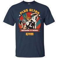 My Hero Academia Anime All Might Plus Ultra Gym Midoriya Izuku Navy T-shirt