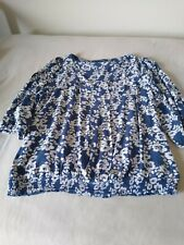 Next blouse 16  preowned in blue and white
