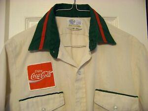 Vintage Coca-Cola Uniform Shirt,Size 15 1/2,W/Coke Patch,Riverside,Few Stains