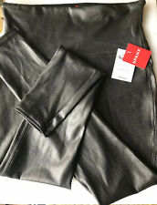NWT Spanx Faux Leather Leggings Black Size Large Slim skinny