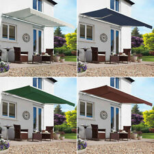 Patio Manual Awning Garden Canopy Sun Shade Retractable Shelter 2/2.5/3/3.5/4M