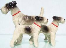 Unknown Austrian Lead 2 3/4 Inch Tall X 4 Inches Long Three Schnauzer Dogs Nm