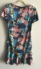 Women New St.John size 8 silk floral motif dress Retail $995