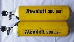Atemluftflasche Druckluftflasche 6L 300 bar mit TÜV bis 2026