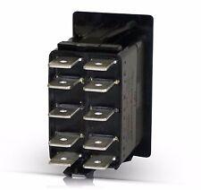 VJD2U66B - ON-OFF-ON DPDT Carling Contura Rocker Switch, IND Lamps -marine