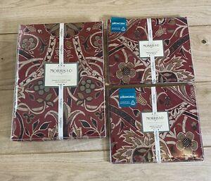 NEW Morris & Co. Bullerswood SUPER KING Duvet Cover Paprika & 2 Pillowcases
