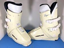 Vintage 80s Heierling Ski Boots Mens Size 8-1/2 Italy White Elegance Winter