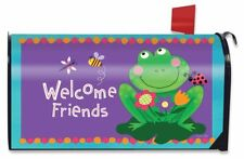 Welcome Friends Frog Summer Magnetic Mailbox Cover Lilypad Standard