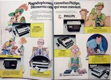 MAGNETOPHONES PHILIPS => coupure de presse PUBLICITE 2 pages 1975