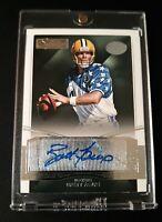 B2 Brett Favre Auto Autograph Green Bay Packers Vikings SP Panini Football Card