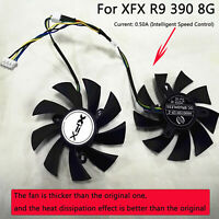 Smart Temperature Control Fan Graphics Card Cooling Fan for XFX R9 390 8G New