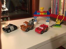Lego Duplo Disney Cars Classic Race Set. No box Lightning Mcqueen Mattel Sheriff