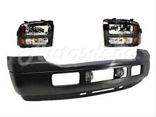 2005-2007 F250 F350 Harley Davidson Front Bumper Black Pad Valance Fog Headlight