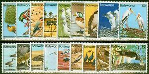 Botswana 1982 Birds Set of 18 SG515-532 Fine Mtd Mint (20f is Used)