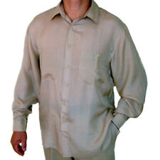 "New 100% Silk Shirts for Men S,M, L, Brand Name ""SURPRISE"" NWT Beige"