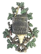 Cast Iron Match Holder Boars Head Hunting Theme (Reproduction)