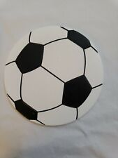 NWT Painted Soccer Ball Wooden Cut Out For Crafting