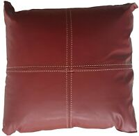Logan and Mason 2 x Monaco Faux Leather Walled Spice Filled Cushion 43cmx43cm