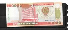 Mozambique #139 Unc 100000 Meticais Banknote Paper Money Currency Bill Note