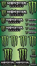 17x MONSTER ENERGY DRINKS STICKERS SPONSOR SHEET DECALS VINYL LOGO