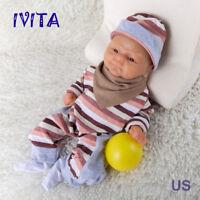 IVITA 14/'/' Silicone Reborn Baby Doll BOY Weak Preemie Birthday Xmas Gift