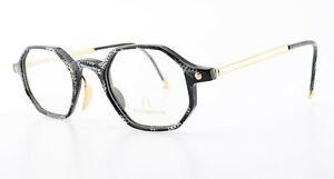 RODENSTOCK Glasses Model R7103 C 49 25/19 145 Square Eye Frame Black White Gold