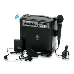 Portable PA Speaker Amplifier & Microphone System, Bluetooth, Rechargeable