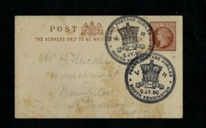 QV 1890 1/2d PS CARD SPECIAL 'PENNY POSTAGE JUBILEE SOUTH KENSINGTON' DATE STAMP