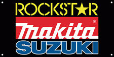 Rockstar Makita GSX R Team Motor Car Logo Vinyl Banner Sign Printed 41