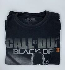 Call of Duty Mens Top XXL Black Black Ops II Graphic Print T Shirt S/S