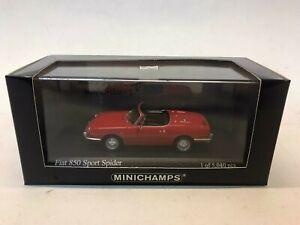 Minichamps Fiat 850 Sport Spider 1968 red 1/43 400121230