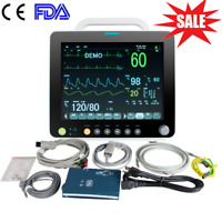 12 Inch Patient Monitor 6-parameter Vital Signs NIBP SPO2 ECG PR TEMP RESP ICU