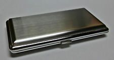 Fujima Brush Chrome Finish Double Sided Metal 120s Size Cigarette Case