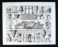 1849 Bilder Atlas Print - Roman Furniture - Etruscan Banquet Kraters Artifacts