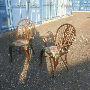 Two Vintage Wheel Back Chairs Read Listing Cambs